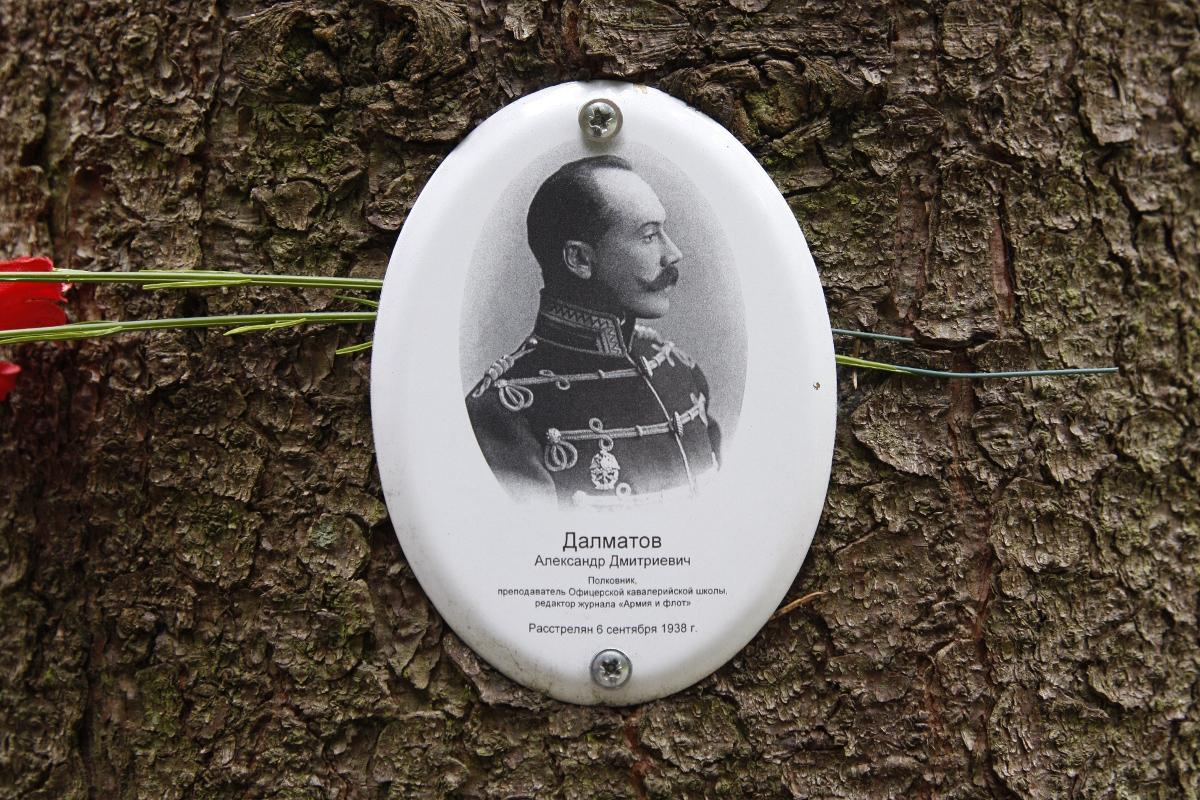 Памятная табличка А. Д. Далматову. Фото 05.06.2017
