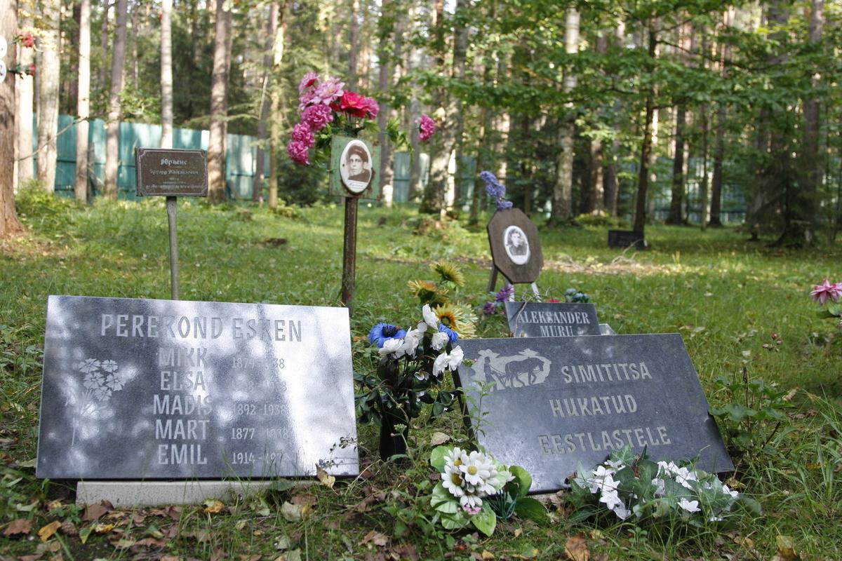 Символическое надгробие семье Эскен. Фото 29.08.2017