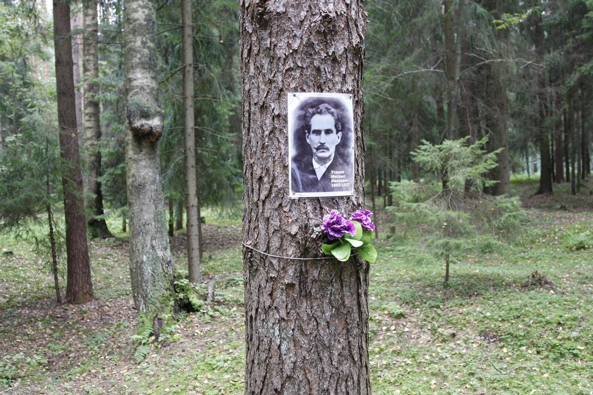 Памятный знак М. И. Усанову. Фото 29.08.2017