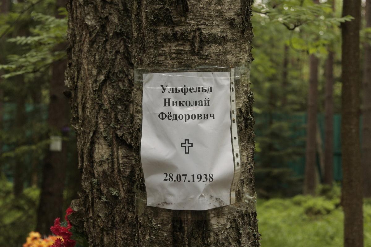 Памятный знак Н. Ф. Ульфельду (в настоящее время утрачен). Фото 02.06.2012